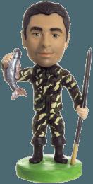 Подарок рыбаку «Удачливый рыбак» 20см. - фото 1