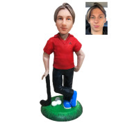 Подарок гольфисту по фото «Король 18-ой лунки» 20см. - фото 1