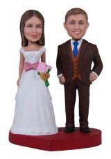 Подарок на свадьбу «Молодожены» 20см. - фото 1