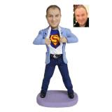 Подарок для мужчины по фото «Супермен в пиджаке» 20см. - фото 1