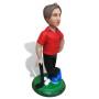 Подарок гольфисту по фото «Король 18-ой лунки» 20см. - фото 3