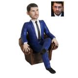 Подарок бизнесмену по фото «В кресле» 20см. - фото 1