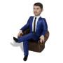 Подарок бизнесмену по фото «В кресле» 20см. - фото 4