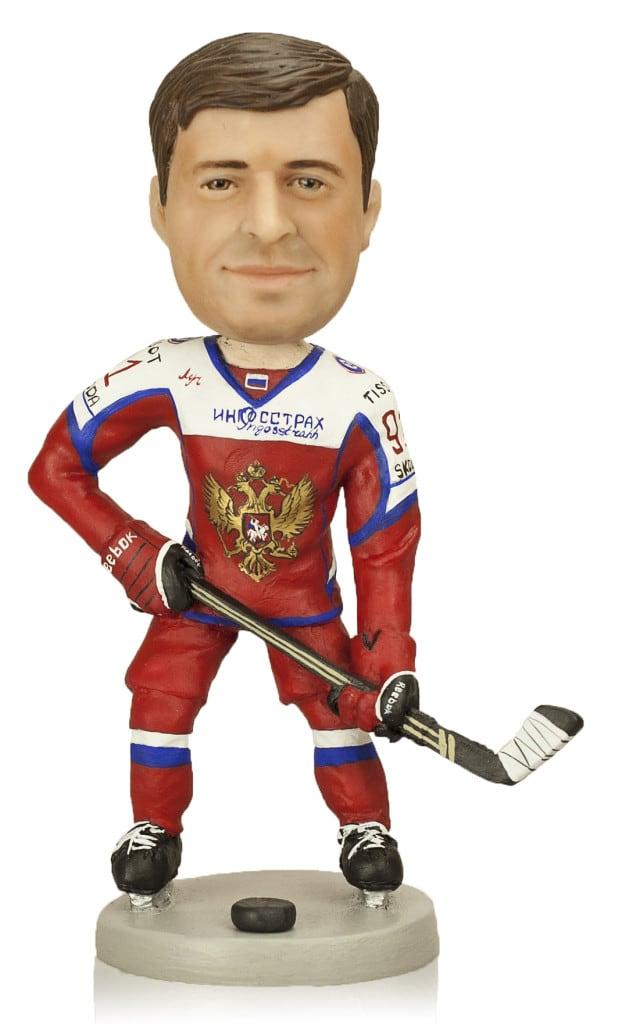 "Подарок хоккеисту ""Бравый хоккеист"" - Кукла-Шарж.ру"