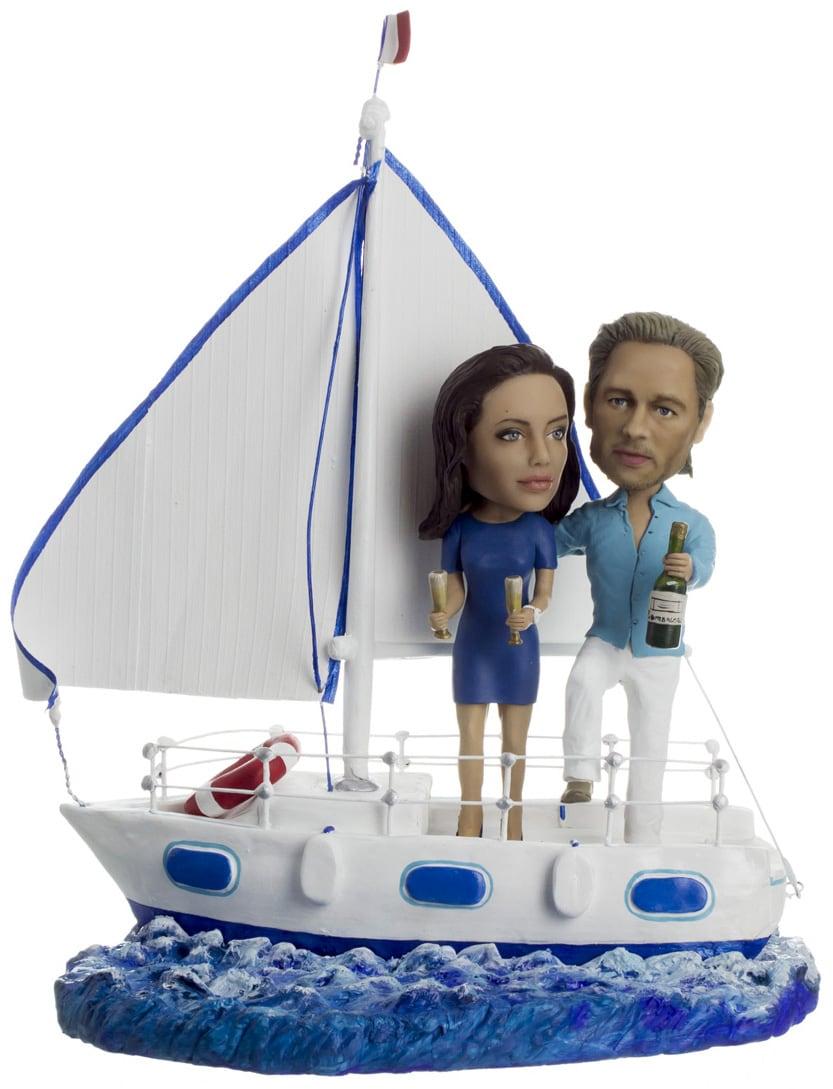 Большой подарок паре по фото«Свобода на яхте» 40 см
