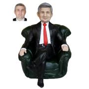 Подарок начальнику по фото «Начальник в кресле» 20см. - фото 1