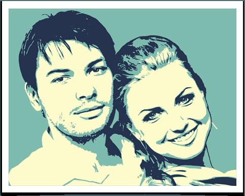 Поп арт портрет по фотографии 60x80 см