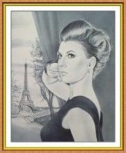 Портрет по фото на заказ A4 сюжетный черно-белый - фото 1