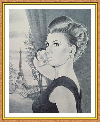 Портрет по фото на заказ A4 сюжетный черно-белый