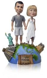 Подарок паре «Весь мир у наших ног» 30см. - фото 1