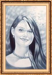 Портрет по фото на заказ A4 черно-белый только лицо - фото 1