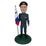 Подарок военному по фото «Бравый ОМОН» 20см. - фото 1