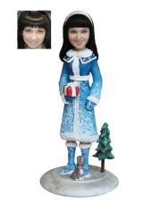 Подарок на новый год по фото «Снегурочка» 20см. - фото 1