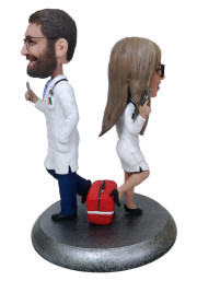 Подарок врачам «Спасающие сердца» 20см. - фото 1