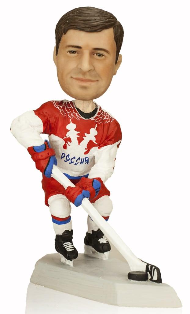"""Подарок хоккеисту """"Супер-хоккей"""" - Кукла-Шарж.ру"""