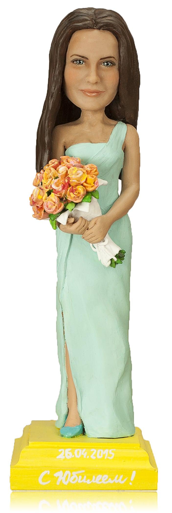 Подарок женщине «С цветами»30 см