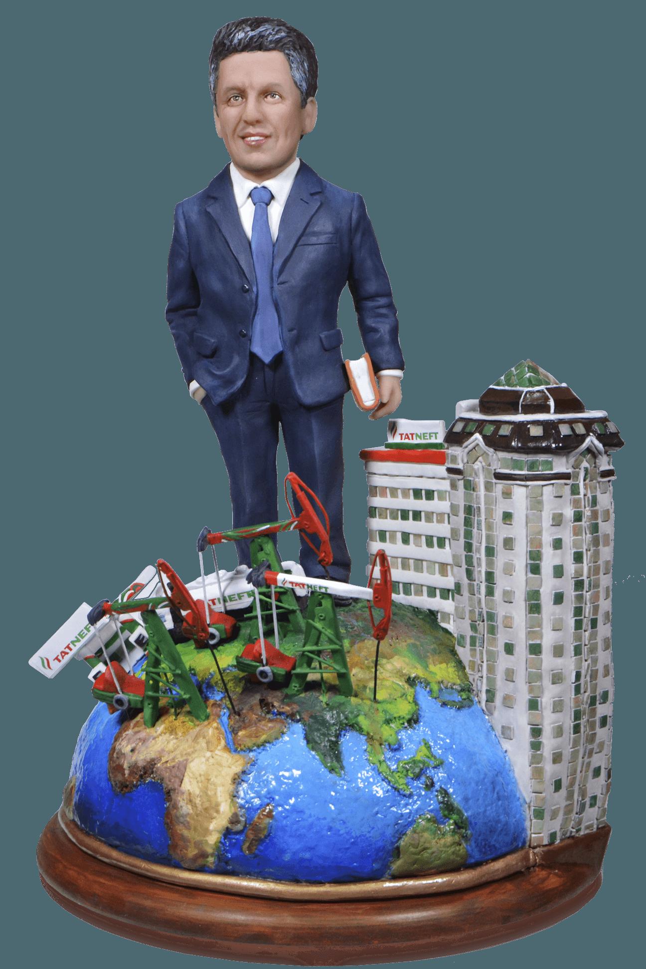 Vip подарок нефтянику по фото Президенту корпорации 35 см