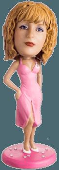 Подарок маме по фото «В розовом платье» 20см. - фото 1