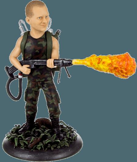 Подарок по фото мужчине Человек-огонь 30см