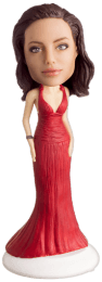 Подарок подруге по фото «Вечернее красное платье» 20см. - фото 1