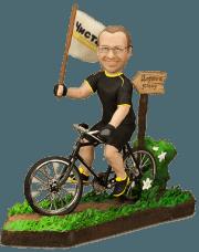 Подарок велосипедисту «Дорога к успеху» 20см. - фото 1