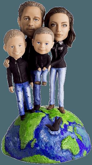 Семейный подарок Семья путешественников