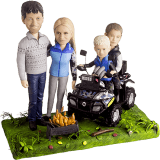 Подарок семье по фото «Семья с квадроциклами» 30 см - фото 1