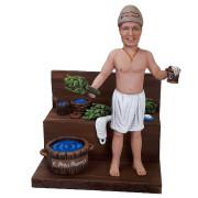 Подарок банщику по фото «Любитель бани» 30 см. - фото 1