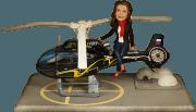 Подарок девушке по фото «Вертолетчица» 25 см - фото 1
