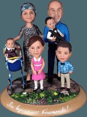 Семейный подарок по фото «Цветы жизни» 25 см - фото 1