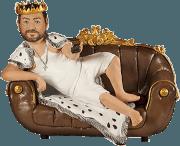 Подарок мужу по фото «Король дивана» 30 см - фото 1