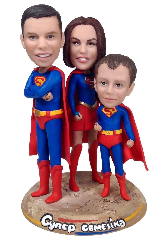 """Статуэтка по фото семье """"Супер семейка"""" от 34 990 руб"""