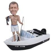 Подарок рыбаку «На катере» 20см. - фото 1
