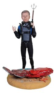 Подарок дайверу «Подводная охота» 30см. - фото 1