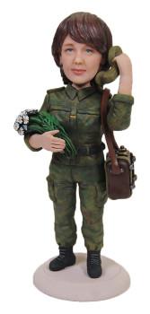Подарок девушке «Военный связист» 20см. - фото 1