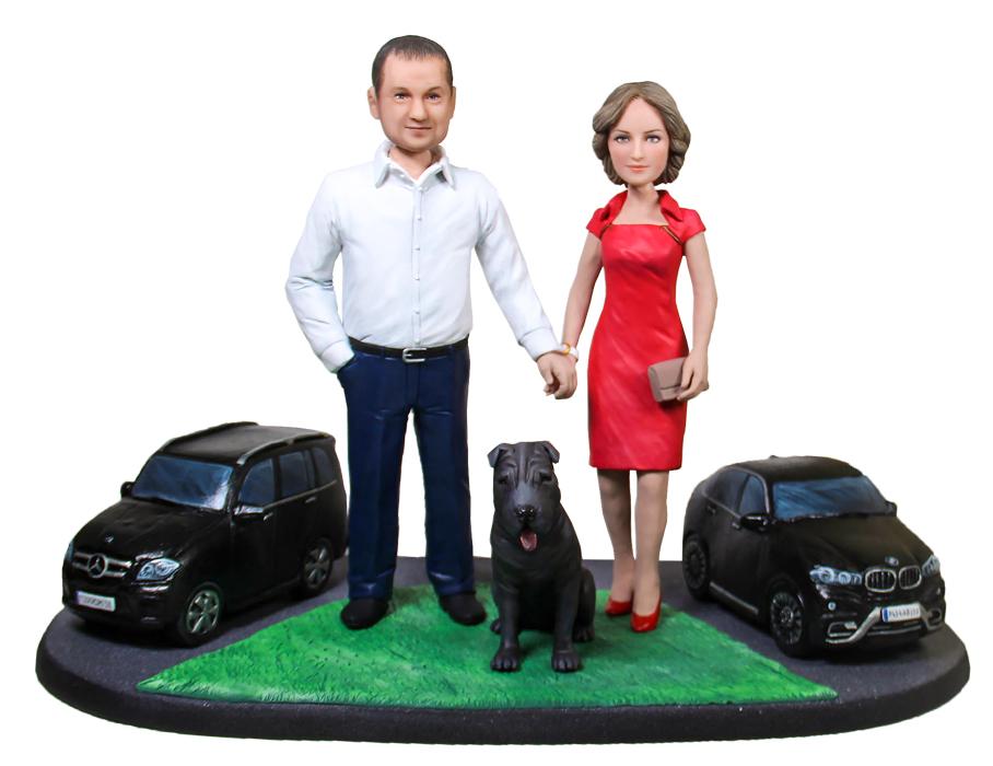 """Статуэтка паре по фото """"Успешная семья"""", 30 см. от 67 560 руб"""
