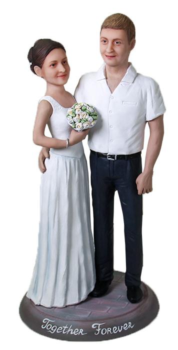 """Статуэтка паре по фото """"Вместе навсегда"""", 30 см. от 45 560 руб"""
