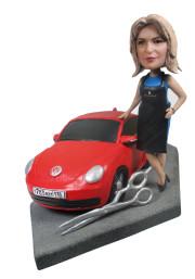 Подарок девушке «С любимым авто» 20см. - фото 1