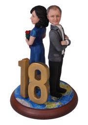 Подарок родителям «18 лет вместе!» 20см. - фото 1