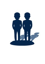 3D статуэтка 2 человека - фото 1
