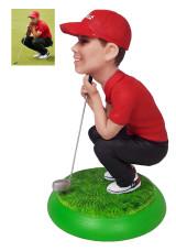 Подарок гольфисту «Точно в лунку» 25см. - фото 1