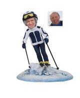 «Подарок лыжнику «Скоростной спуск» 20см. - фото 1