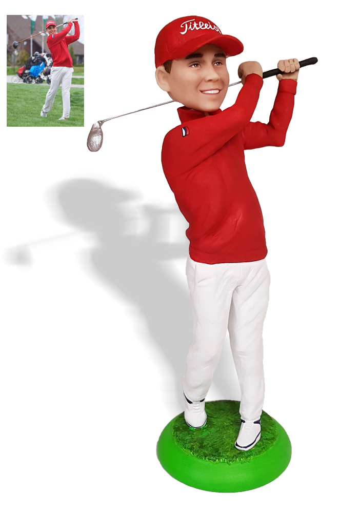 """Статуэтка по фото гольфисту """"Коронный удар"""", 25 см. от 19 700 руб"""