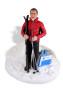 Подарок лыжнику «Покоренная вершина» 30см. - фото 6
